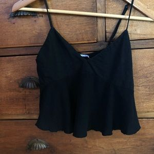 Urban Outfitter Black Crop Top